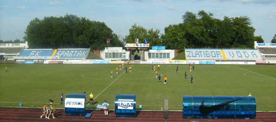 The Subotica Stadium pitch
