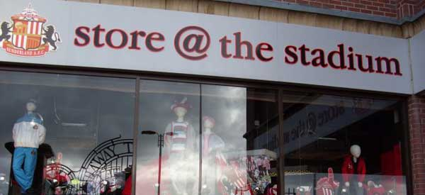 The Exterior of Sunderland's club shop