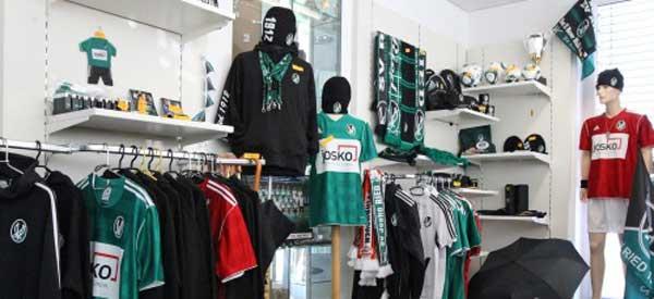 Interior of SV Ried club shop