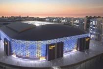 Swedbank Friends Arena at night