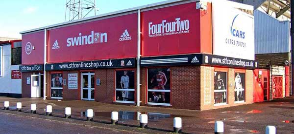 The exterior of Swindon's club shop