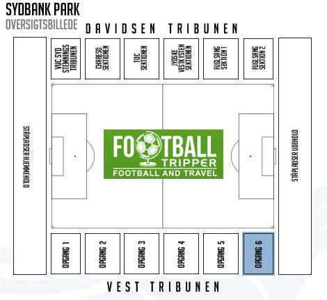 Sydbank Park Stadium map