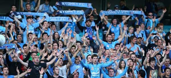 Sydney FC supporters inside the stadium