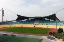 The main stand at Tehran's Takhti Stadium