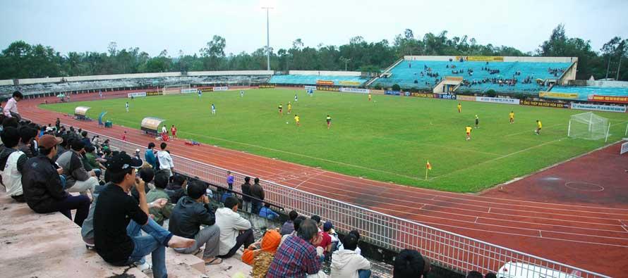 Inside Tam Ky Stadium on matchday