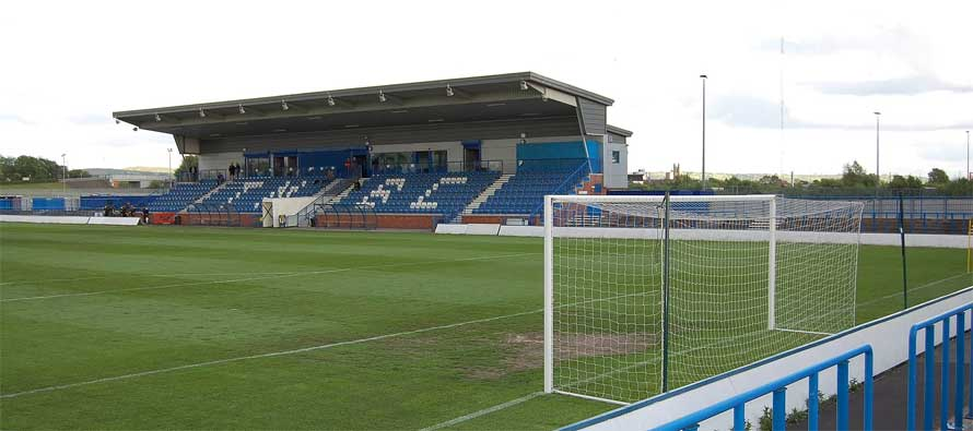 Tameside stadium's main stand