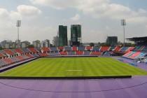 Internal view of the pitch at Larkin Stadium
