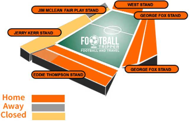 Tannadice Park Dundee United Seating Plan