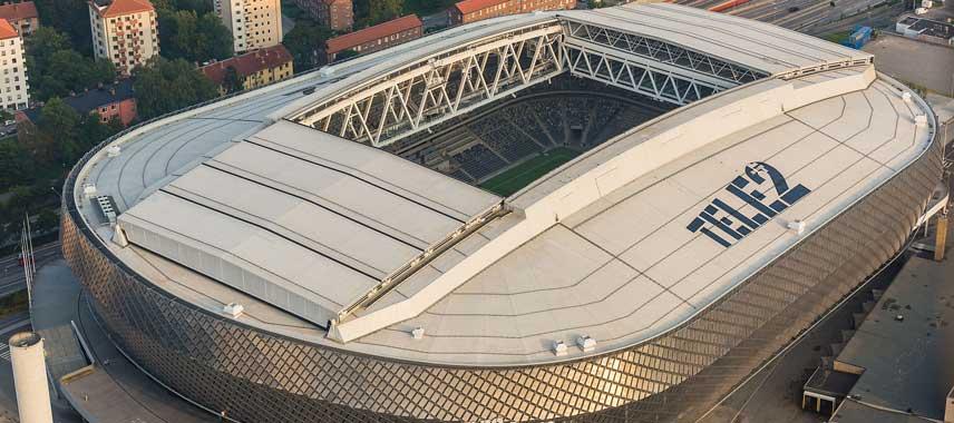 aerial view of Tele2 Arena