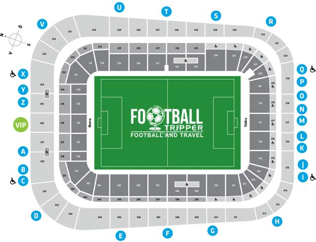 Tele2 Arena seating chart