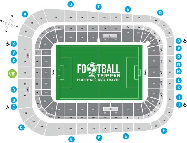 Stadionplan Lille