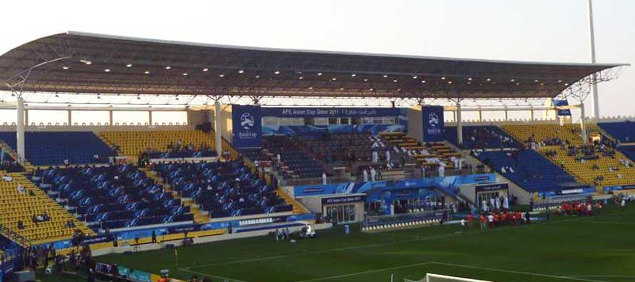 Interior of Al-Gharrafa Stadium