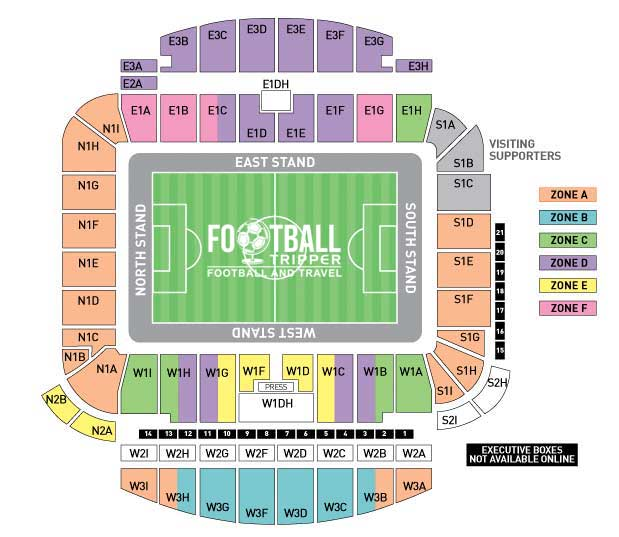 The Amex Seating Plan