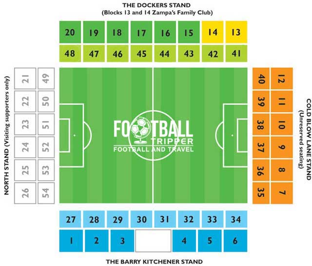 The Den Seating Plan Millwall
