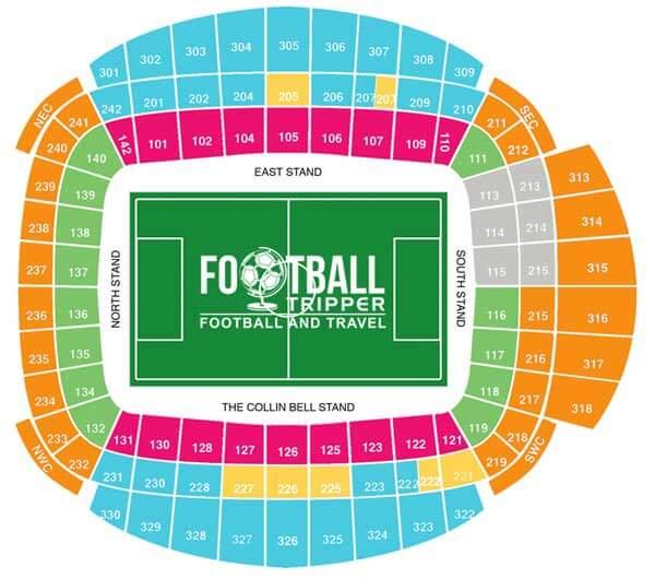 Etihad Stadium Seating Plan 2021/22n