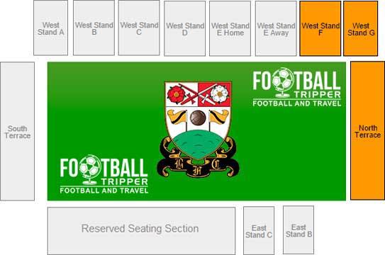 The Hive Stadium Seating Plan
