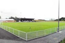 Inside view of the Rock Stadium in Wrexham