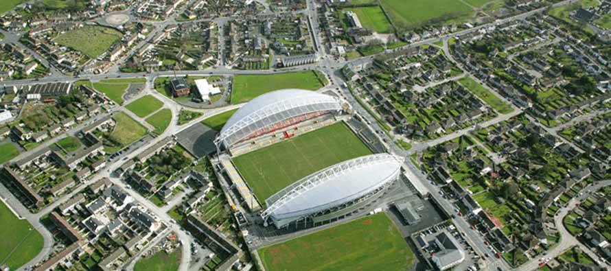 Aerial view of Thomond Park