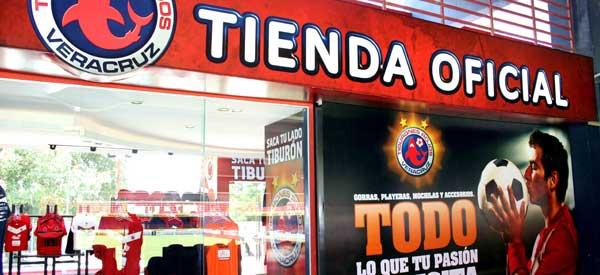 Exterior of Veracruz club shop