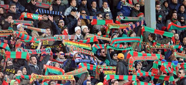 Ternana supporters inside the stadium