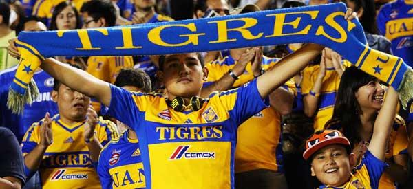 Tigres UANL supporters inside the stadium