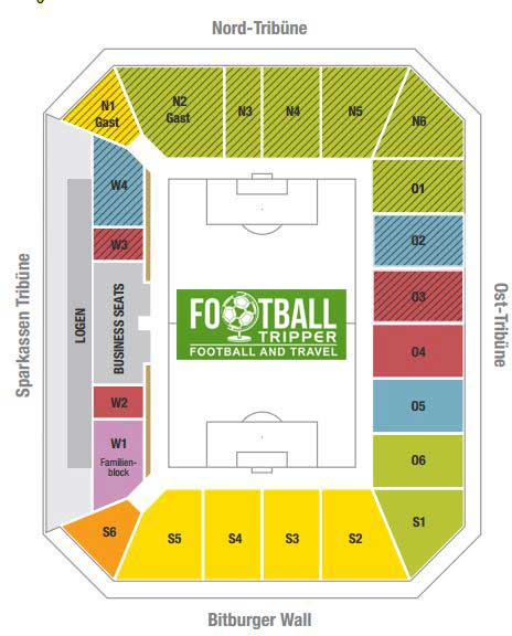 Tivoli Stadion seating plan