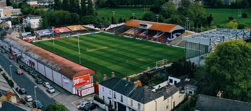 Aerial view of Tolka Park Stadium