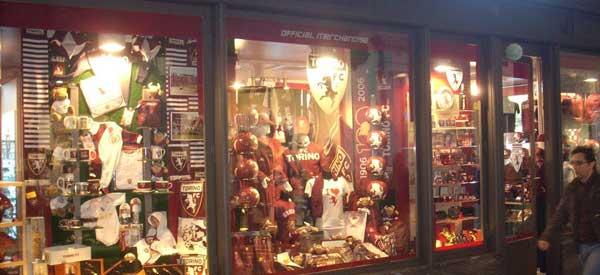 Exterior of Torino's club shop