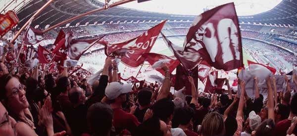 Torino supporters inside the stadium