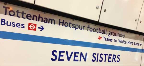 Inside Seven Sisters Tube Station