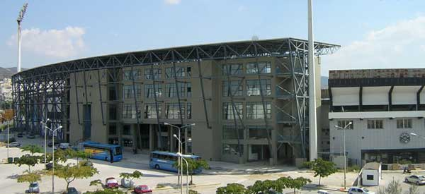 Exterior of Toumba Stadium main stand