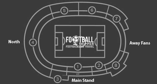 Seating plan for Toumba Stadium