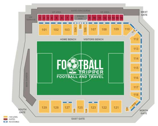 Toyota Field Seating Plan