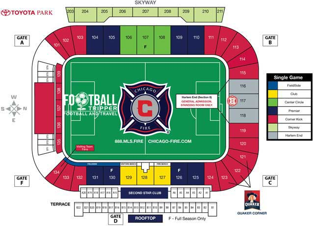 Toyota Park Seating Plan Chicago