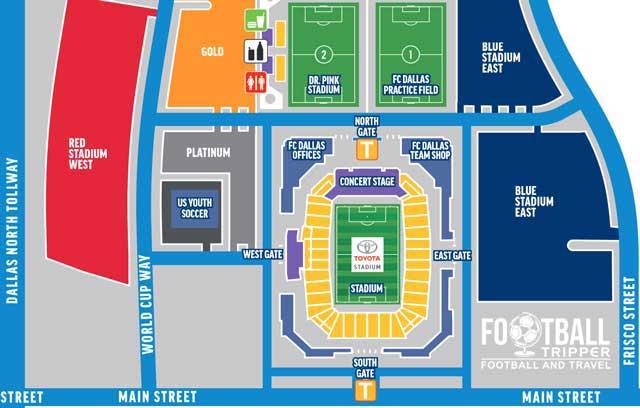 Toyota Stadium Seating Plan Dallas