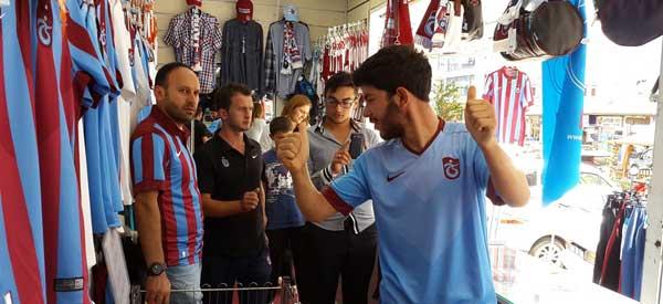 Inside Trabzonspor's fan shop