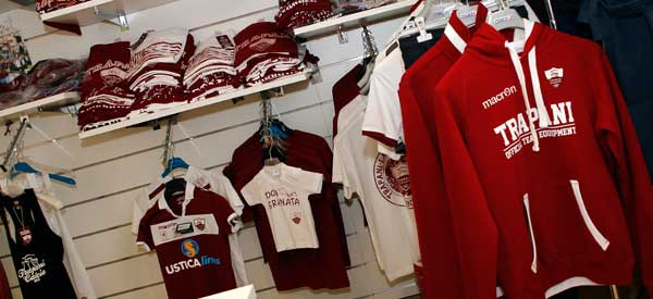 Interior of Trapani club shop
