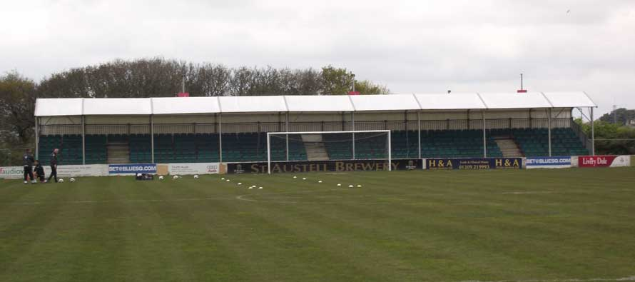 Goal-end of Treyew road Stadium