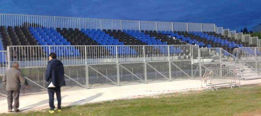A stand at Stade des Marais