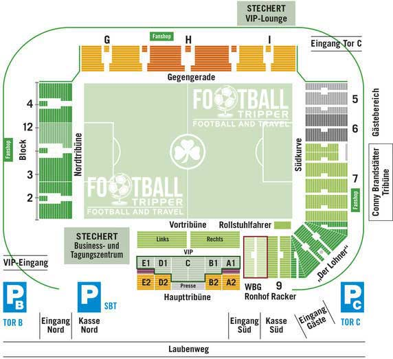 Stadion am Laubenweg seating plan