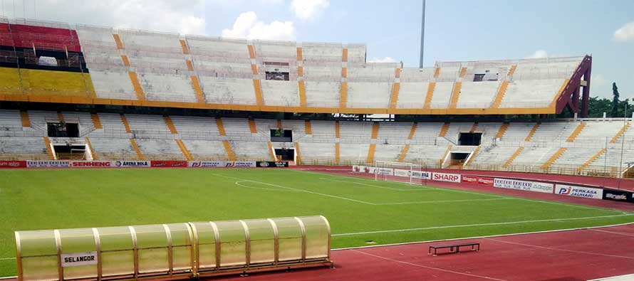 A peak inside the stadium, and the pitch