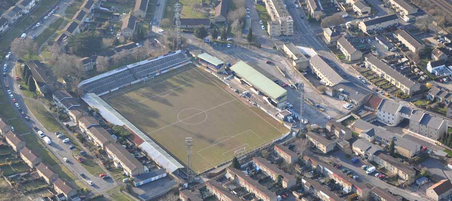 Aerial view of twerton park