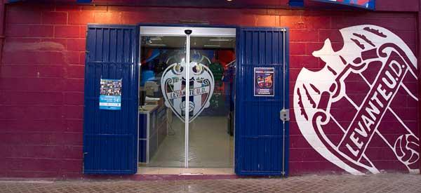 Exterior of Levante UD club shop