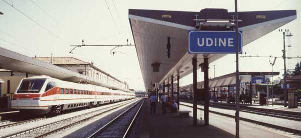 Inside Udine Train Station