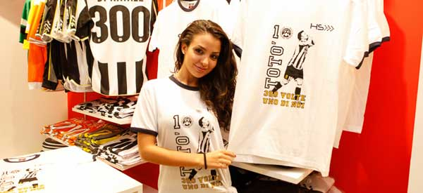 Inside Udinese Club Store