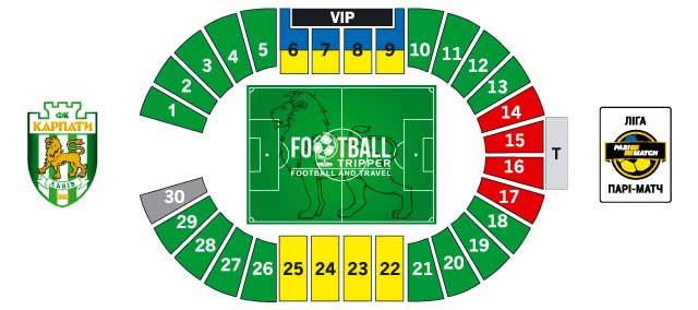 Ukraina Stadium seating chart