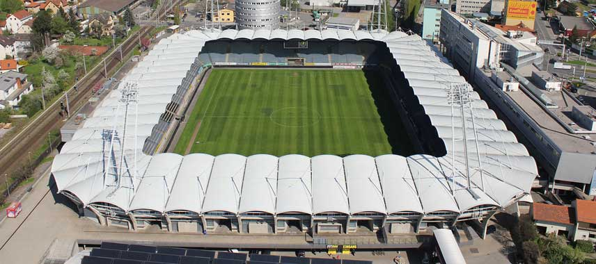 aerial view of the UPC Arena