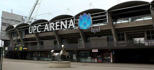 Exterior and sign for UPC Arena