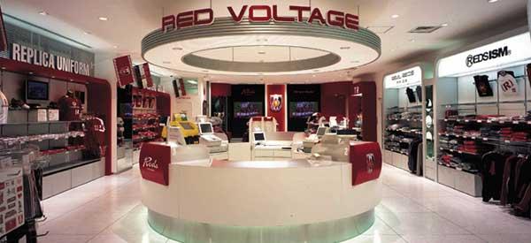 Interior of Urawa Red Diamonds club shop
