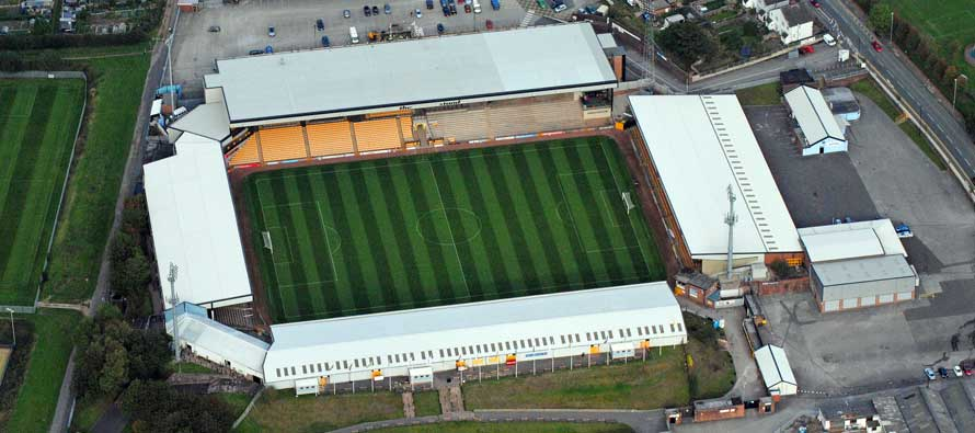 Port Vale Park's pitch